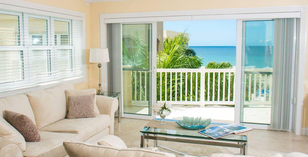 A calm verandah, plenty of space