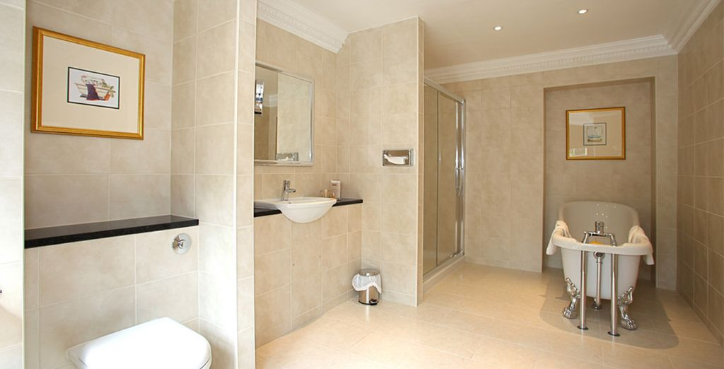 With chic modern bathrooms