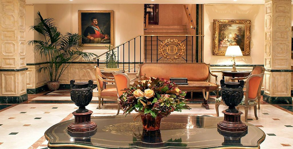 Enter the grand entrance hall - Relais & Châteaux Hotel Orfila***** - Madrid Madrid