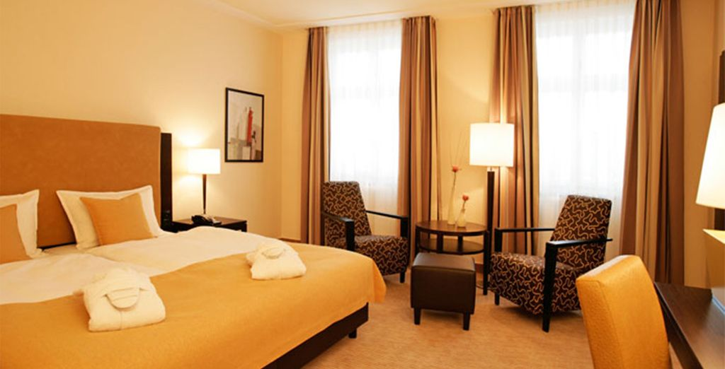 Our members will be treated to a Deluxe Room upgrade