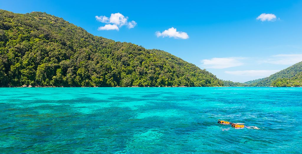 Or delve into the crystalline Indian Ocean