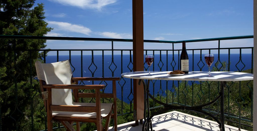 Gaze out over the waters - Loulouthia Villas  Paxos