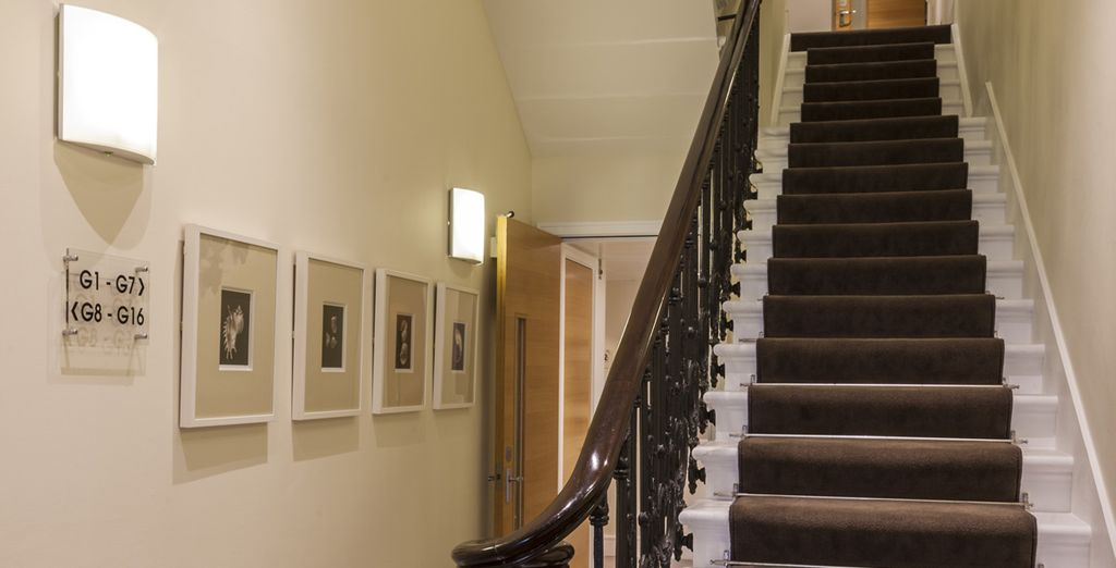 Admire the original, townhouse design as you make your way upstairs
