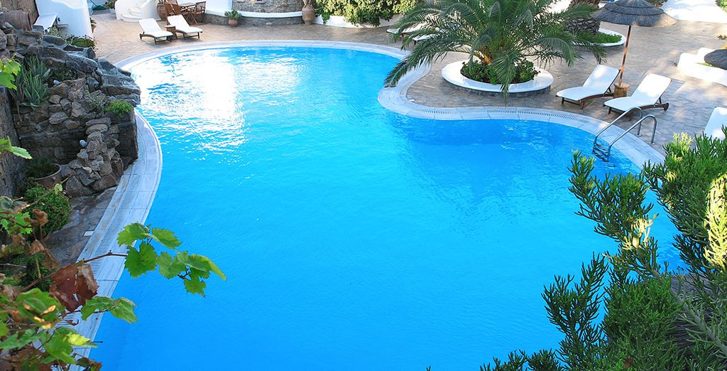 Enjoy a swim in the refreshing pool