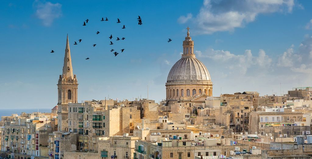 You're just 9km from historic Valletta
