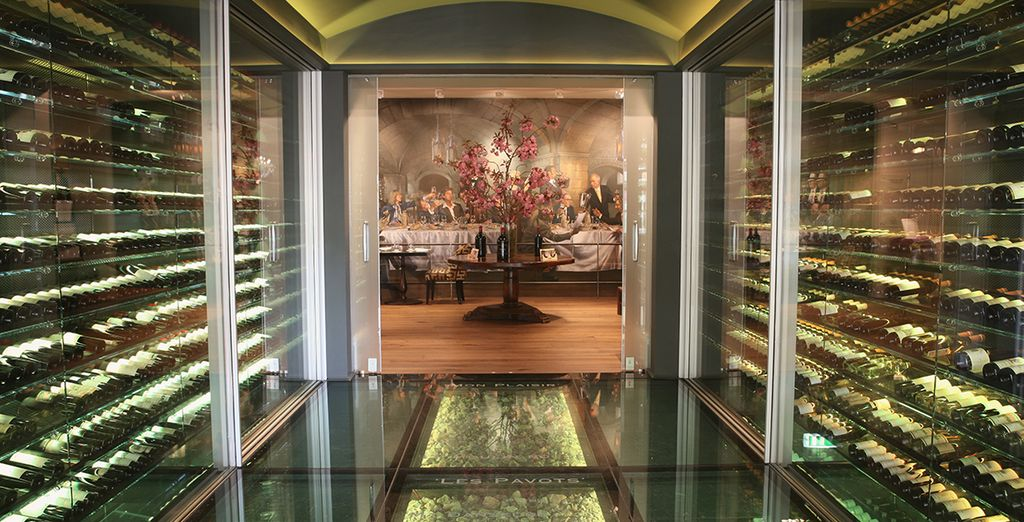 The hotel features an extensive wine collection impressing even the most experienced wine buff