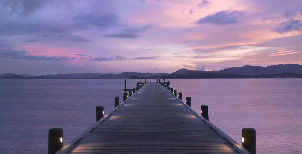 With amazing views of Phang Nga Bay