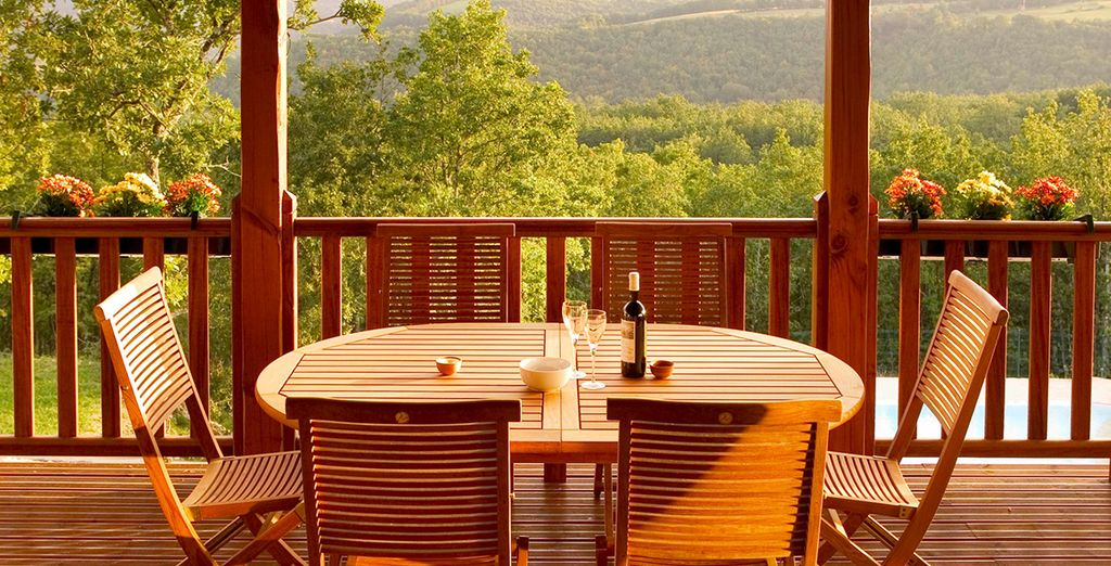 Or dinner overlooking the valley, the choice is yours