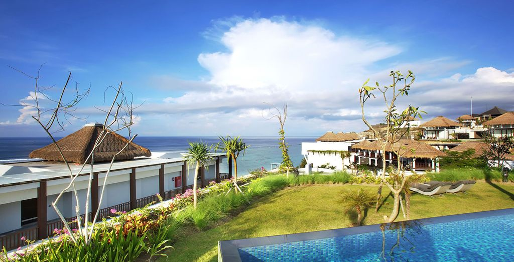 And of course, a private pool villa looking out towards the ocean