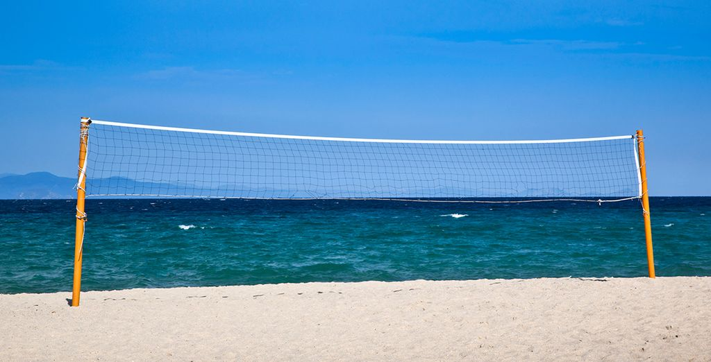 Play beach volleyball, sail or windsurf