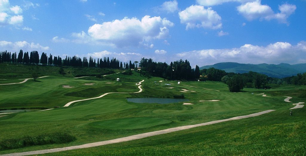 Make use of the extensive 18-hole golf course to practice your swing