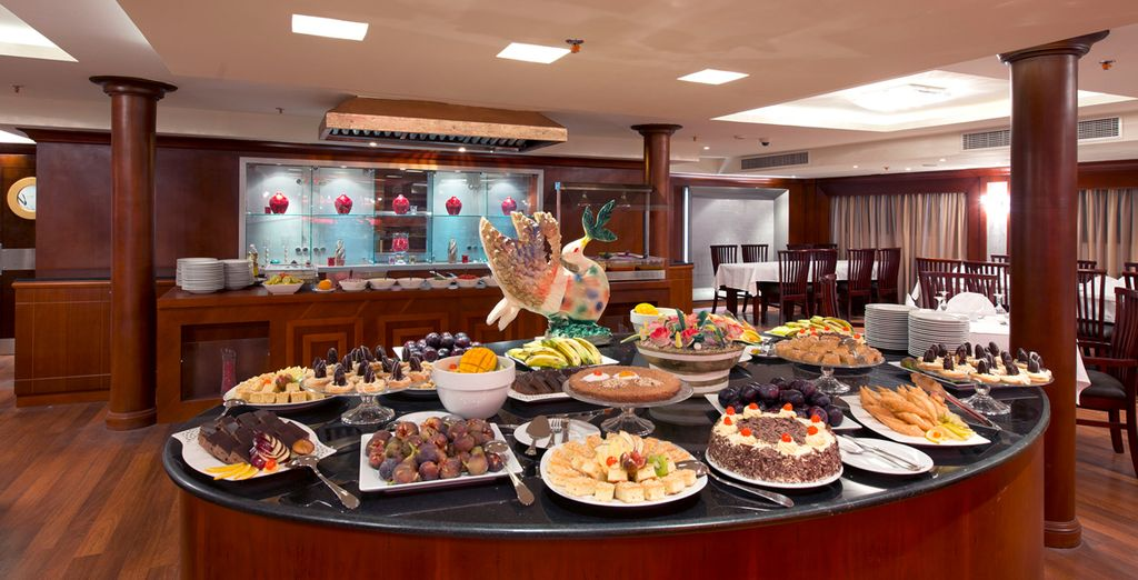 Enjoy an abundance of food during your full board stay