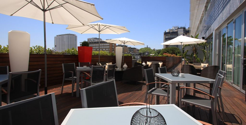 Catch some early spring sunshine on the terrace