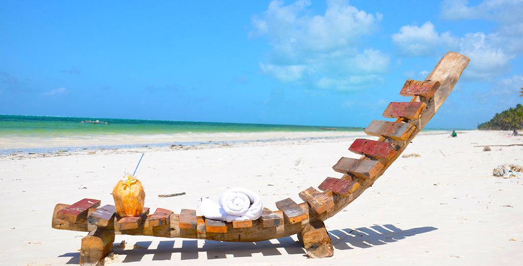 Recline on a sun lounger and fall asleep to the sound of the waves