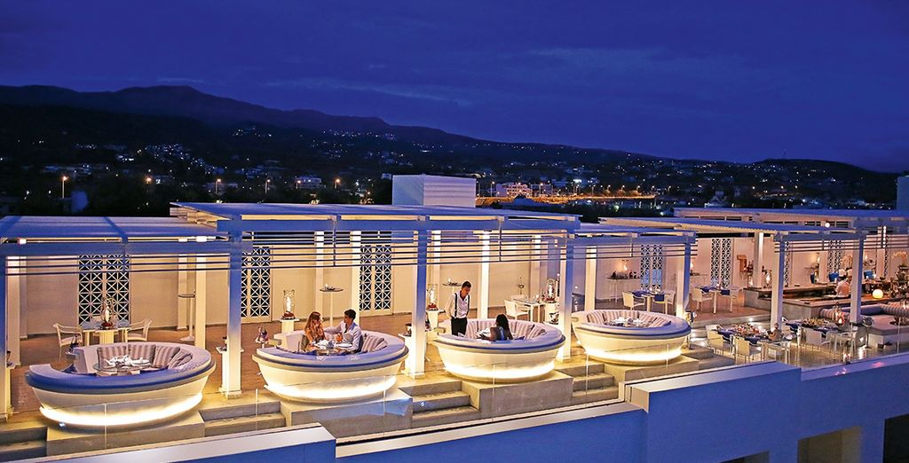 Cap off the day in the ultra-cool sky bar