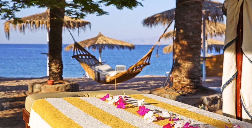 You could treat yourself to a beachside massage