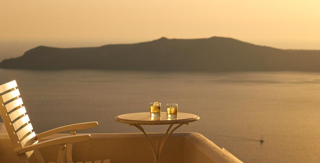 And a private balcony, perfect for sunset drinks.