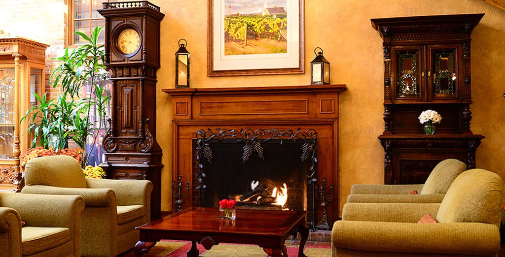Enjoy the antique feel of the hotel surroundings