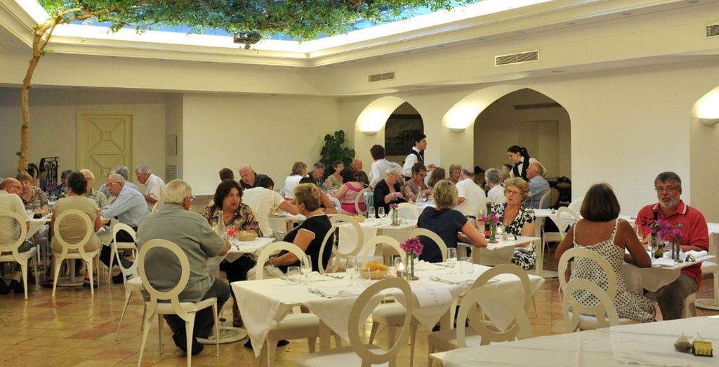 Delightful dining areas