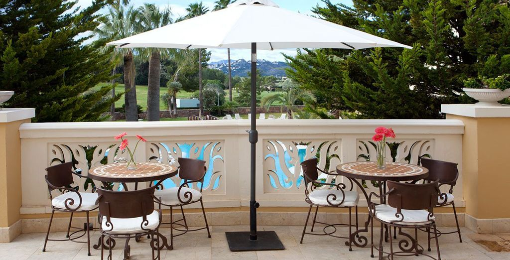 And enjoy an al-fresco breakfast in the beautiful Spanish weather