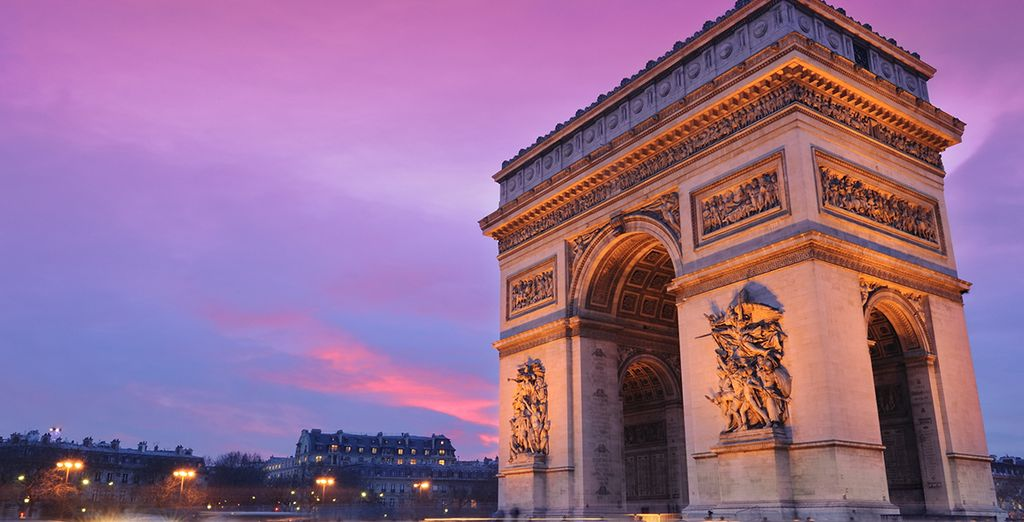 Where you can find yourself at on of Paris' most iconic landmarks in moments...