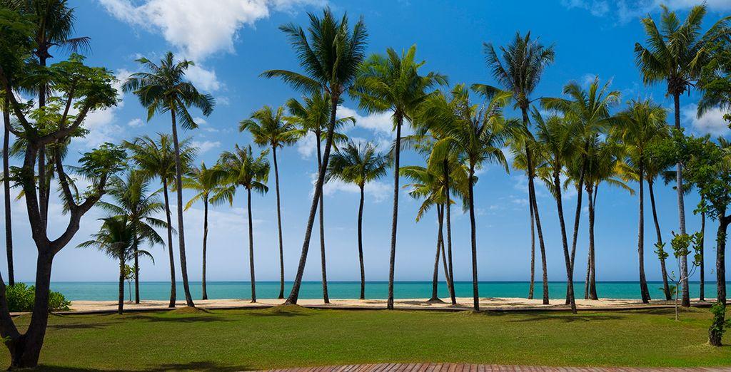Set right beside this pristine sandy beach