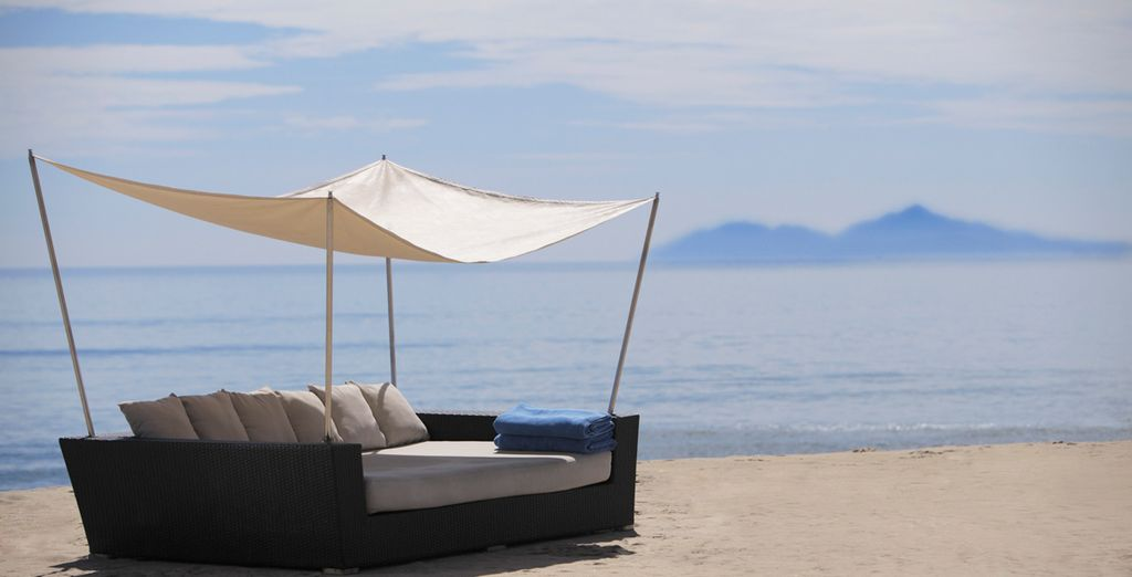Relax on the pristine white sands...