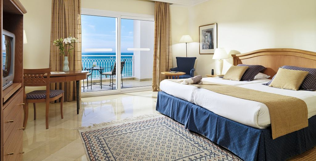 Awake to stunning sea views from your room
