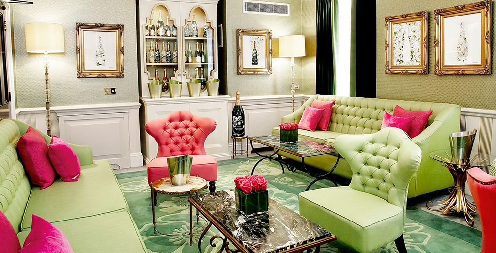 Visit the Perrier Jouet Lounge for a glass of fizz