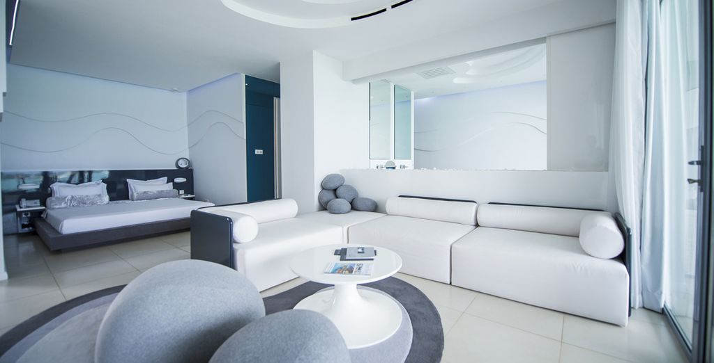 Stay in a spacious Junior Suite