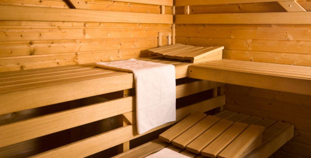 or perhaps unwind in the Sauna?