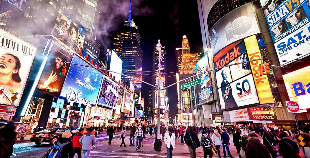 And visit the city's most famous sites like Times Square