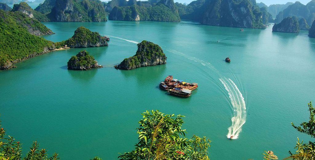 Discover incredible, world-famous sights along the way (Ha Long Bay)