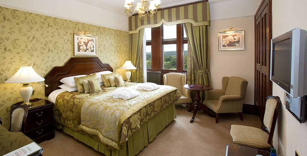 Where you will stay in a spacious Club Room