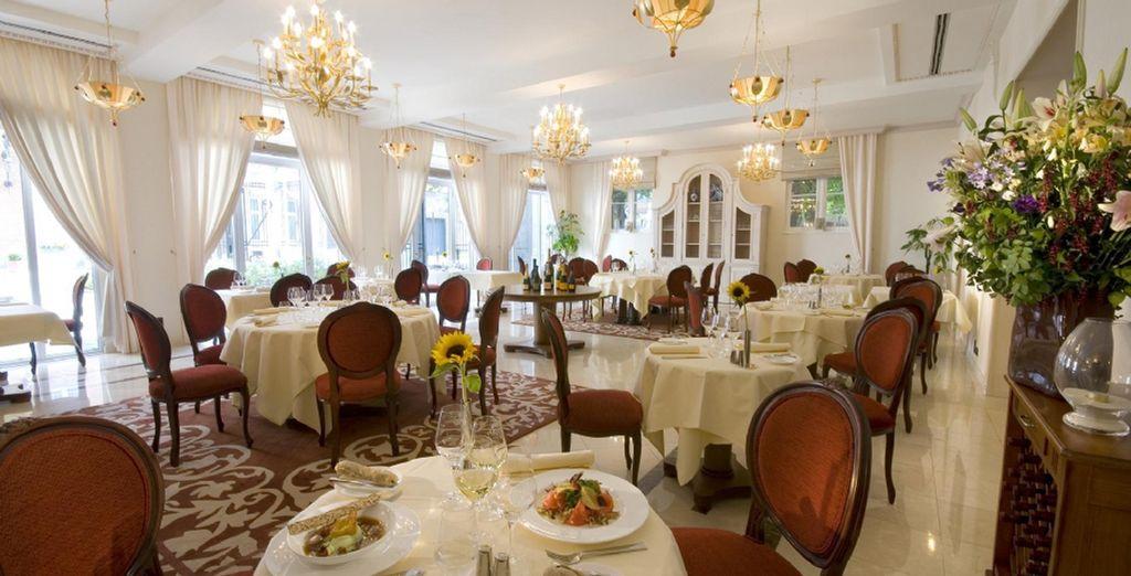 Enjoy gourmet dining at the restaurant