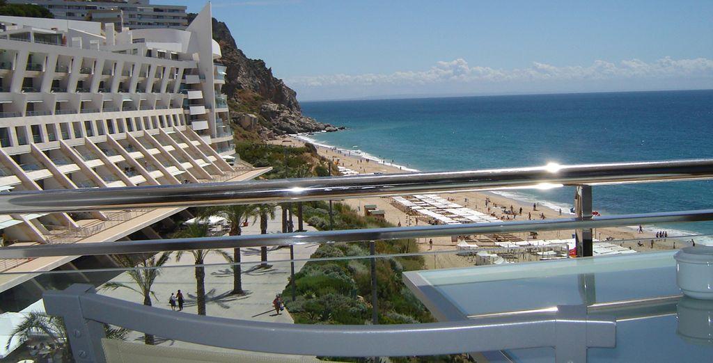 Overlooking a fabulous sandy beach