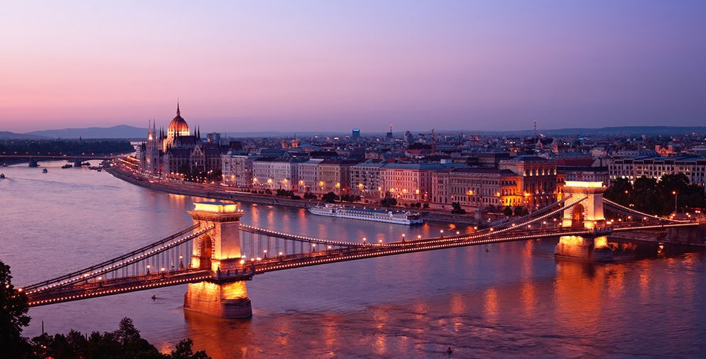 And enjoy a romantic sunset stroll by the Danube