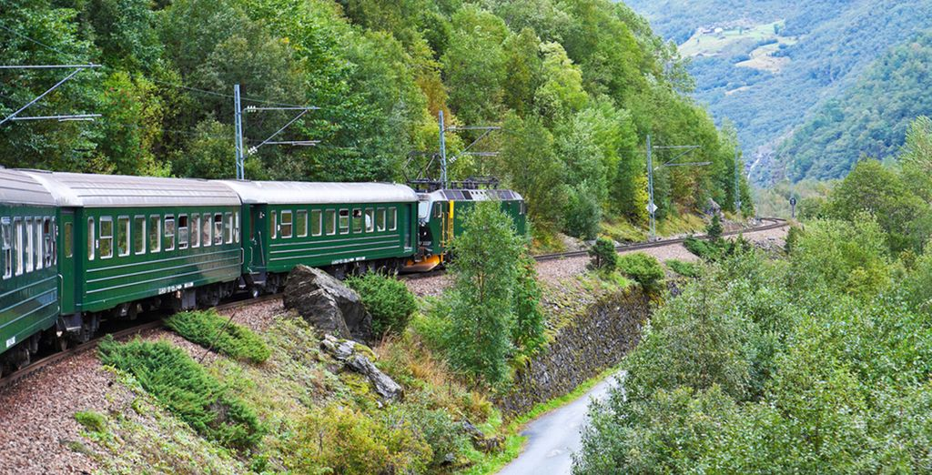 Next, you will travel through the mountains on the highest railway line in Europe