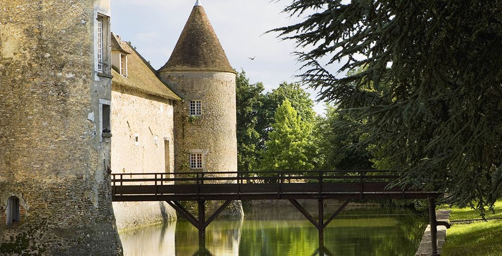 Preserving its tradition, the chateau is surrounded by a moat