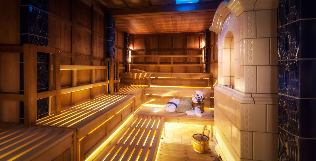 Feel refreshed after a visit to the sauna