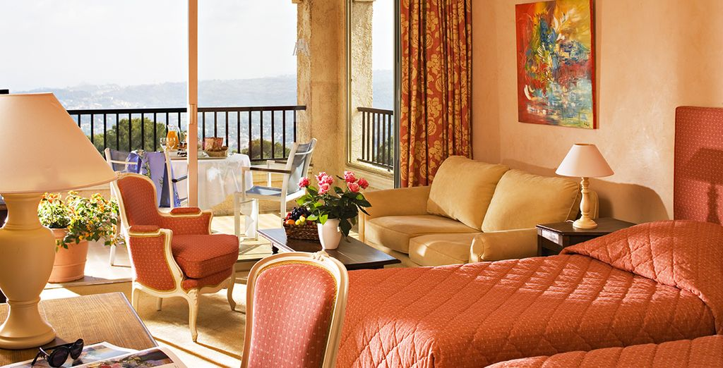 Our members will stay in a Junior Suite with stunning sea view