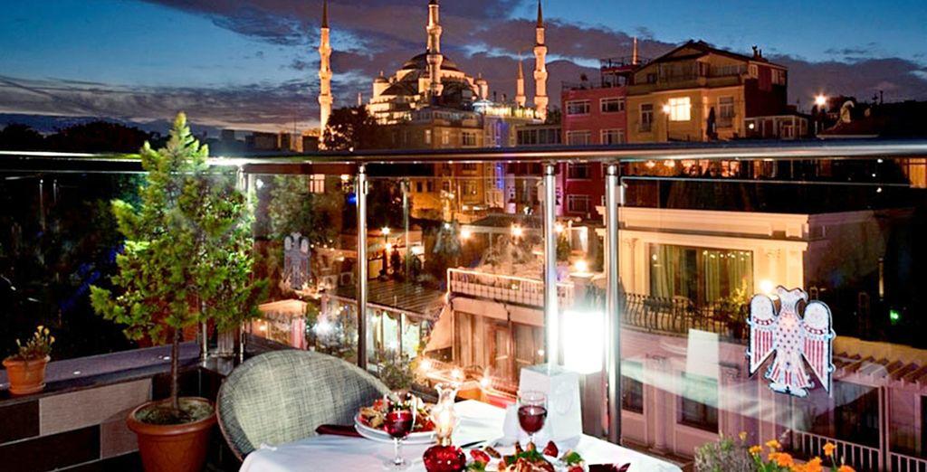 Enjoy panoramic views of the city