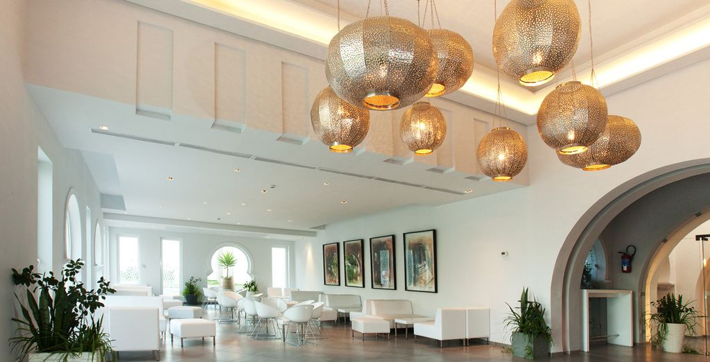 As you enter the lobby, admire its innovative design inspired by local culture