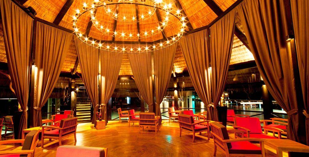 With pleasing decor highlighting its luxury status