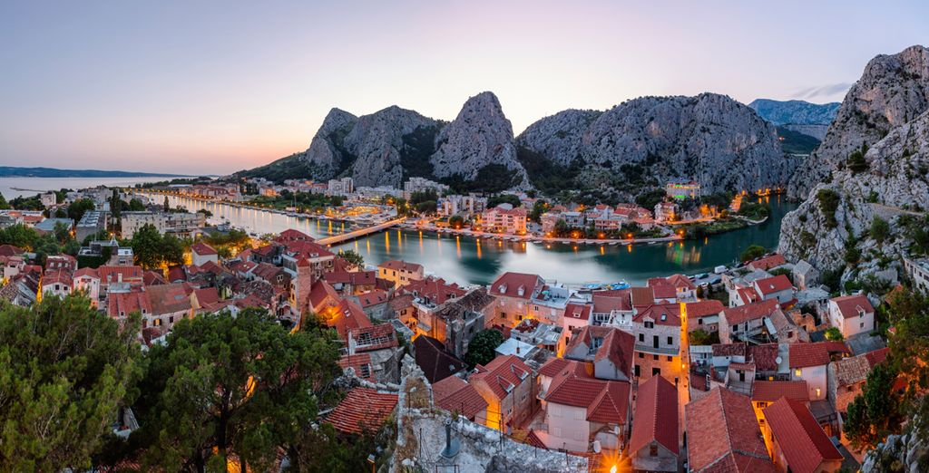 Reach the stunning beauty of Omis, once home to pirates!