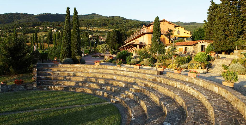 Set on a hill you have beautiful panoramas of the Tuscan countryside