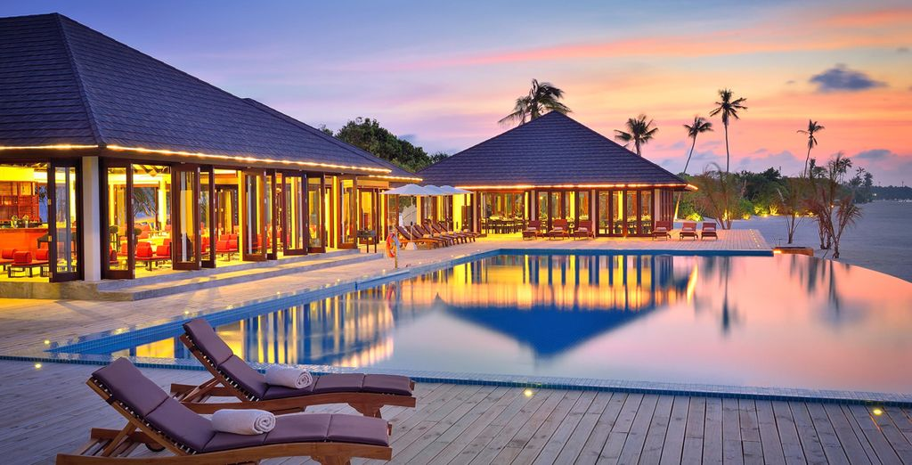 Or doze by the pool with stunning sea vistas