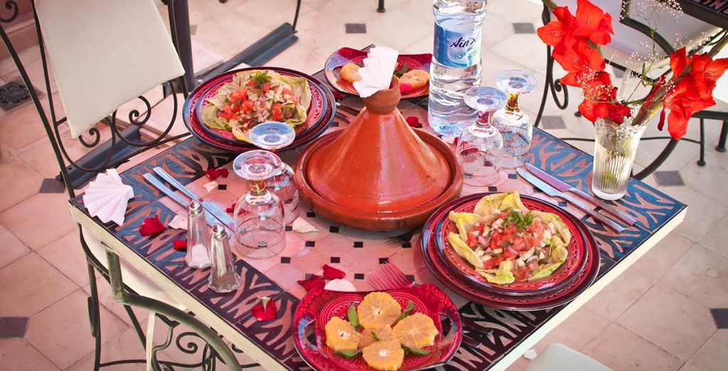 And indulge in the flavourful local cuisine with a free Moroccan dinner