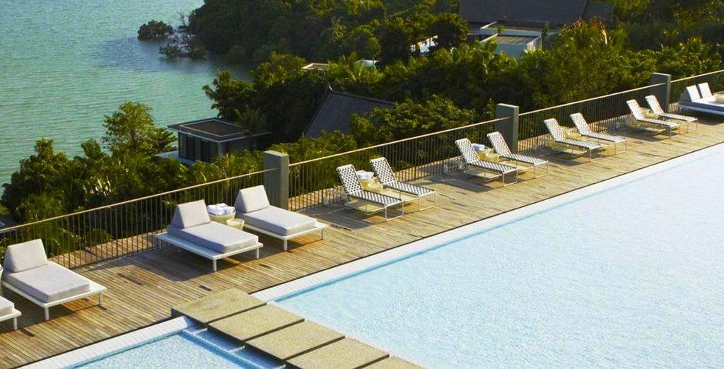 Head to the pool to soak up the Thai sunshine