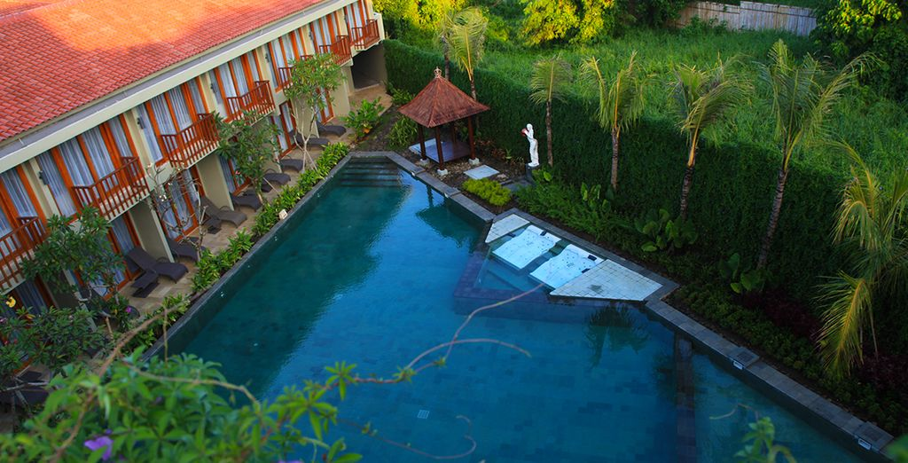 First, settle into the quiet of the Wana Ubud Resort
